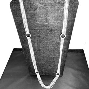 Jewelry - Silver tone chains, adjustable length necklace